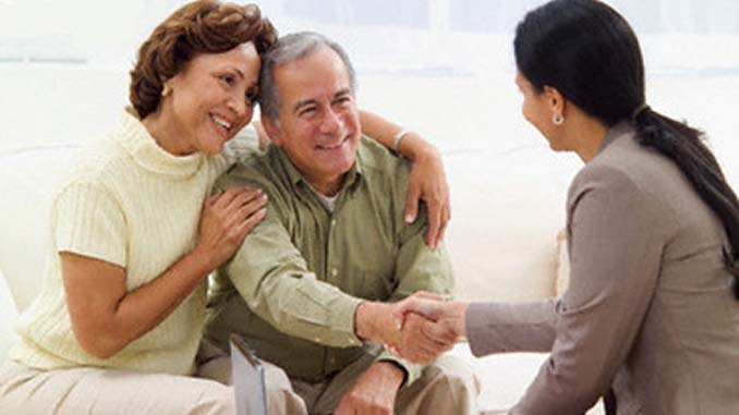 RetirBaby Boomers are Looking for Home Businessed Couple Meeting with Businesswoman