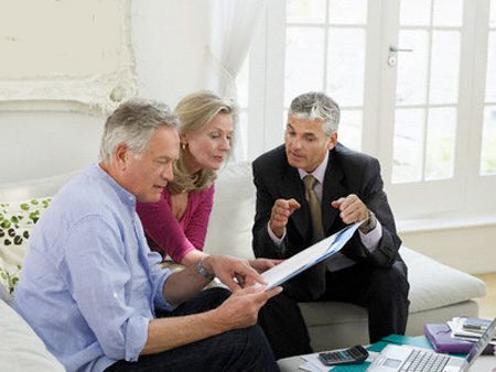Financial Planner Advising Mature Couple